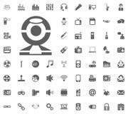 Web camera icon. Media, Music and Communication vector illustration icon set. Set of universal icons. Set of 64 icons.  Royalty Free Stock Photography
