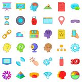 Web camera icons set, cartoon style Royalty Free Stock Image