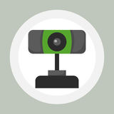 Web camera internet connection conference insight lens device and video digital equipment virtual photo focus objective Royalty Free Stock Image