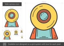 Web camera line icon. Royalty Free Stock Image