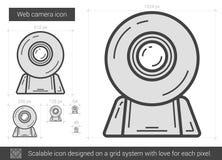 Web camera line icon. Royalty Free Stock Photo