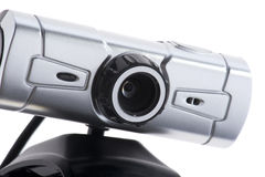 Web camera macro on white Stock Photography
