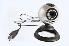 Web camera usb isolated. USB web camera isolated on white Royalty Free Stock Image