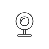 Web camera, webcam line icon, outline vector sign, linear style pictogram isolated on white. Stock Photos