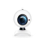 Web camera  on white Stock Image