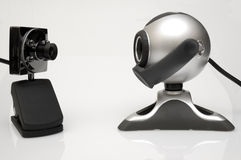 Web cameras. Two webcams looking at each other Royalty Free Stock Image