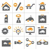 Web car icon set. This icon set represent for web car icon set. this is made in illustrator for more use you can use vector eps file Stock Image