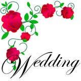 web Cartão ou convite de casamento com fundo floral abstrato Cumprimentando o cartão no grunge ou o teste padrão retro da elegânc ilustração do vetor