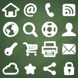 Web chalkboard symbols Royalty Free Stock Photos