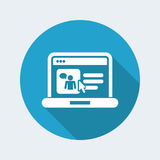 Web chat icon. Flat and isolated vector eps illustration icon, with minimal design and long shadow Stock Photos