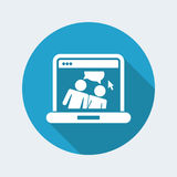 Web chat icon. Flat and isolated vector eps illustration icon, with minimal design and long shadow Royalty Free Stock Photography