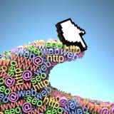 Web che passa in rassegna Immagini Stock