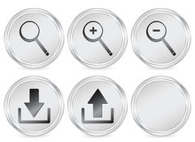 Web circle icon Stock Images
