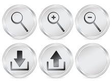 Web circle icon Stock Images