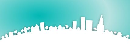 Web City Town Background Stock Photography