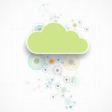 Web cloud banner template. Stock Photography