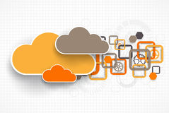Web cloud banner template. Stock Photo