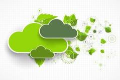 Web cloud banner template. Stock Photo