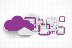 Web cloud banner template. Stock Image