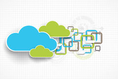Web cloud banner template. Stock Images