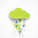 Web cloud banner template. Stock Photos