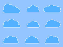 Vector Web Cloud Icons in Different Shapes  Stock Image