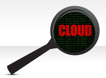 Web cloud magnifier search Royalty Free Stock Photography