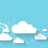 Web cloud technology business abstract background. Royalty Free Stock Images