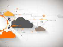 Web cloud technology business abstract background. Royalty Free Stock Photo