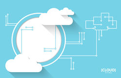 Web cloud technology business abstract background. royalty free illustration