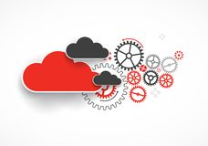 Web cloud technology bussines abstract background. Vector royalty free illustration