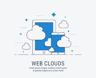 Web clouds vector illustration for web Stock Images
