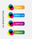 Web cmyk button Stock Image
