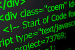 Web Code Stock Images
