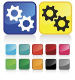 Web Cogwheels Buttons Royalty Free Stock Photos