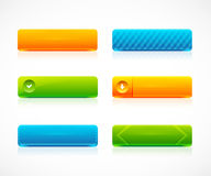 Web color buttons Royalty Free Stock Image