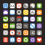 Web color interface icons Royalty Free Stock Photos