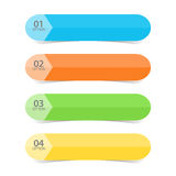 Web Color Tabs Stock Photography