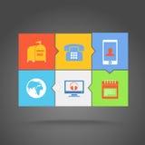 Web color tile interface Stock Image