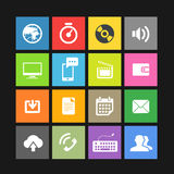Web color tile interface template Stock Images
