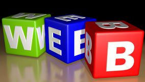 WEB colored cubes Stock Image