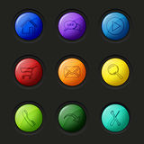Web colored round buttons surface  Stock Photo