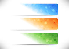 Web colorful geometrical headers collection Stock Images