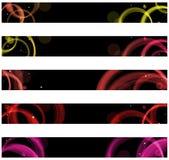 Web colorido abstracto de los círculos Imagen de archivo