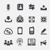 Web communicatie pictogram Stock Afbeeldingen