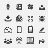 Web communication icon Stock Images