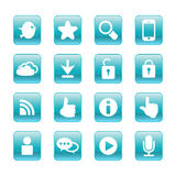 Web, communication icons: internet set. Royalty Free Stock Image