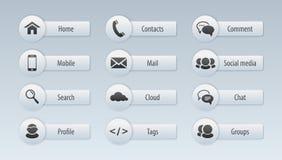Web, communication icons: internet Royalty Free Stock Photography
