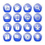 Web, communication icons Royalty Free Stock Image