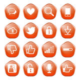 Web, communication icons Royalty Free Stock Photos